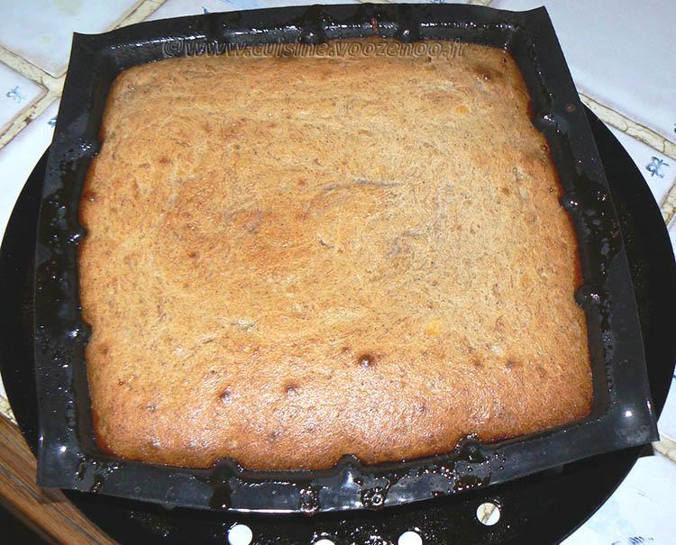 Gâteau renversé à la banane, mirabelles caramelisées etape5