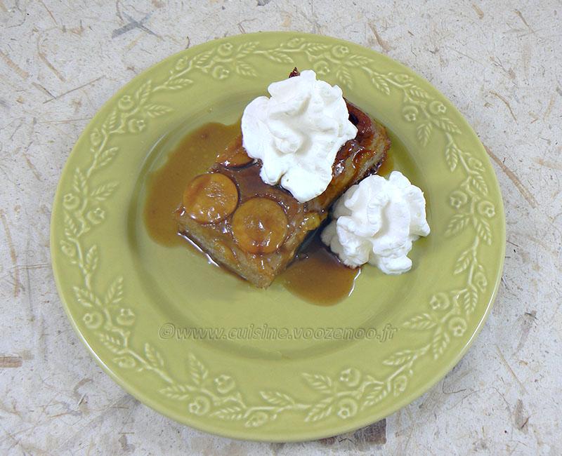 Gâteau renversé à la banane, mirabelles caramelisées fin2