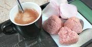 Rochers coco et poudre rose