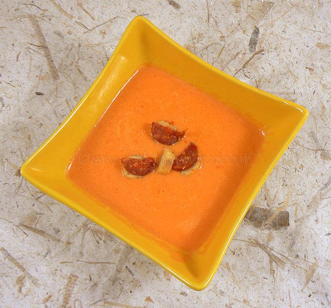 Velouté de poivrons rouges fin