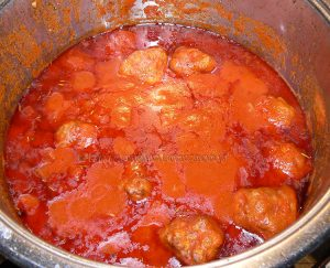 Boulettes en sauce tomate italienne etape7