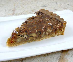 Tarte aux noix et caramel, glaçage à l'abricot fin2