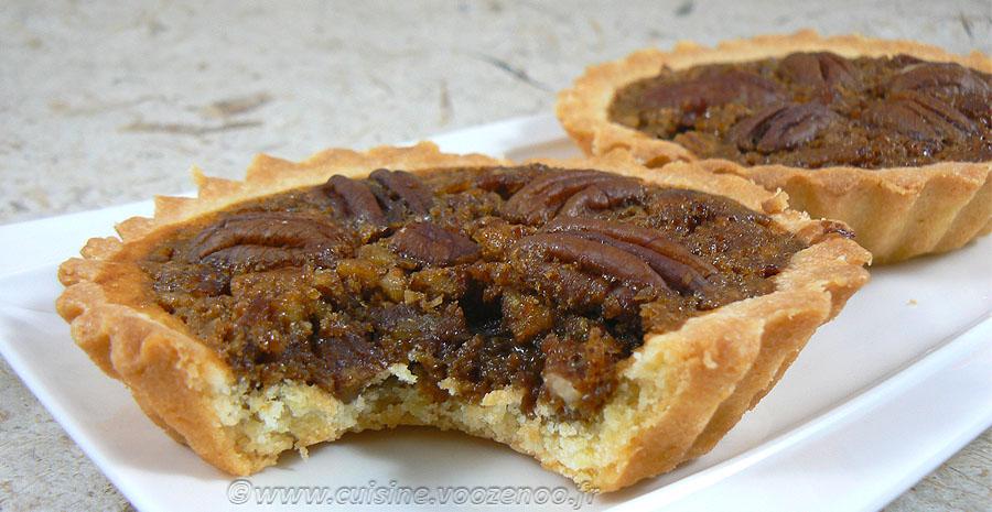 Pecan pie : Tarte aux noix de pecan americaine slider