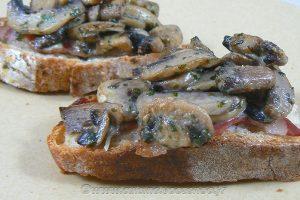 Croustade aux champignons