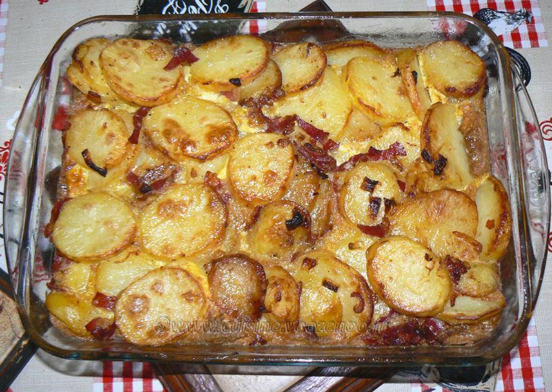 Tortilla de patata au jambon cru fin