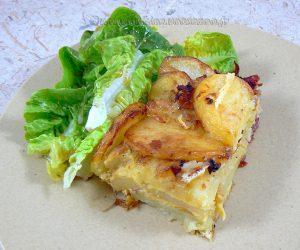 Tortilla de patata au jambon cru presentation
