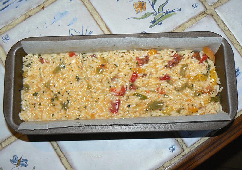 Terrine de riz aux poivrons et chorizo etape4