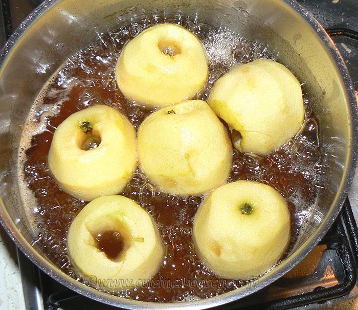 Tufahija – pommes fourrées aux noix etape1