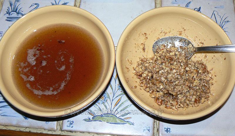 Tufahija – pommes fourrées aux noix etape2
