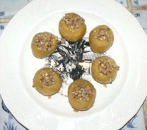Tufahija - pommes fourrées aux noix etape3