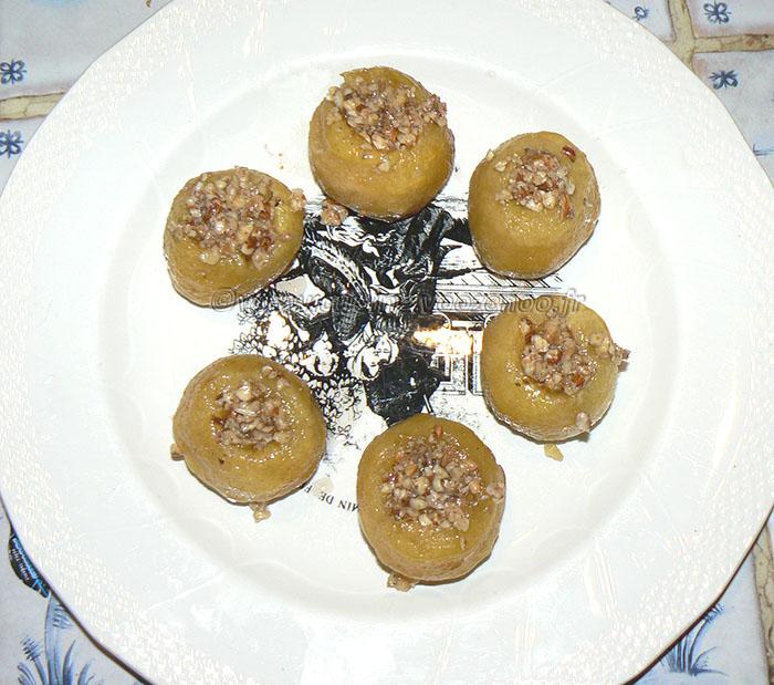 Tufahija – pommes fourrées aux noix etape3