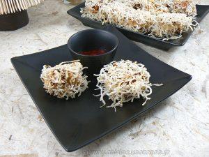 Boulettes chinoises Têtes de lion croustillantes presentation