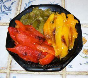 Salade de poivrons à l'algéroise etape1
