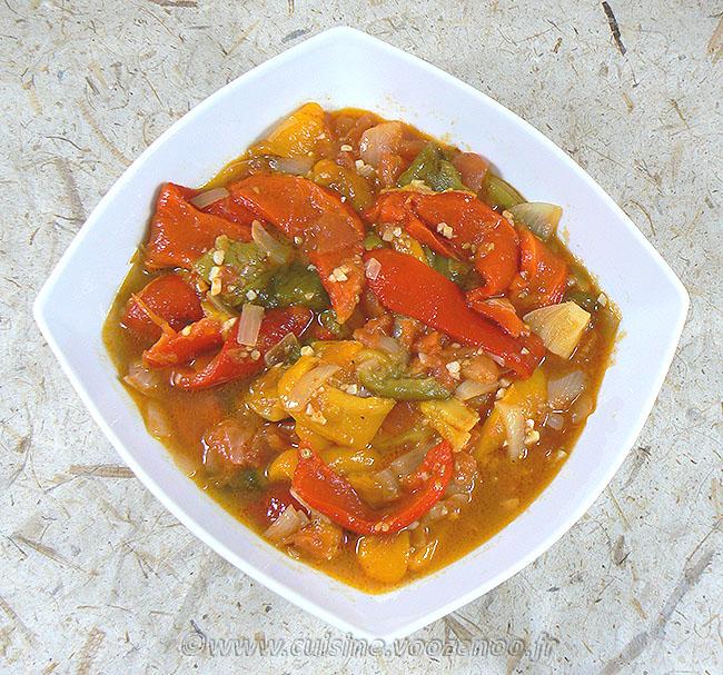 Salade de poivrons à l'algéroise fin