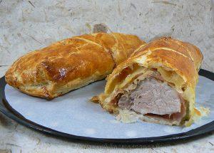 Filet mignon de porc en feuillete moutarde provençale fin