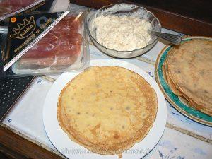 Crêpes au robiola, thym et jambon de parme etape5