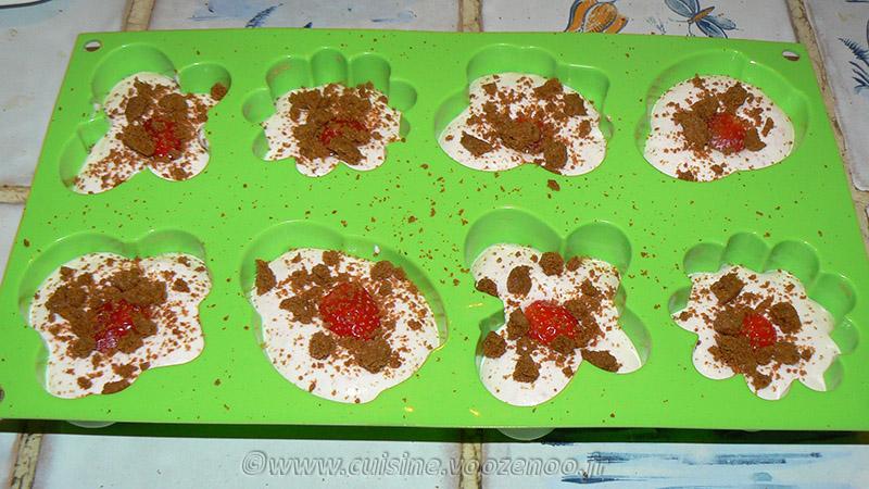 Semifreddo aux fraises et spéculoos etape3