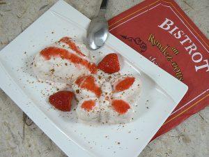 Semifreddo aux fraises et spéculoos presentation
