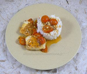 Dos de cabillaud, sauce tomates cerises fin2