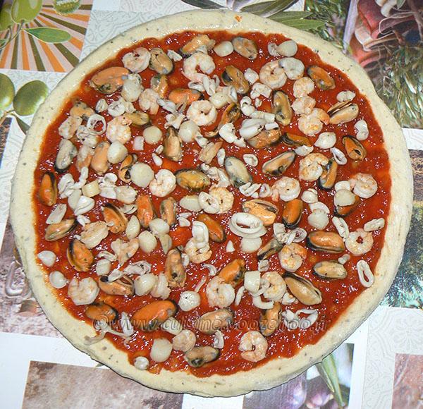 Pizza aux fruits de mer etape4