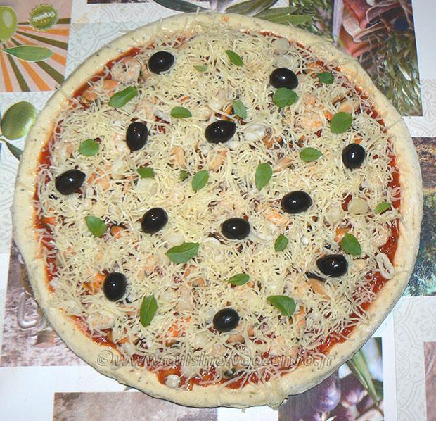 Pizza aux fruits de mer etape5