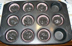Cupcakes à la réglisse – Noir et blanc etape5