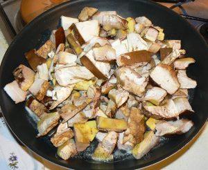 Cèpes à la crème et ravioles frits etape2