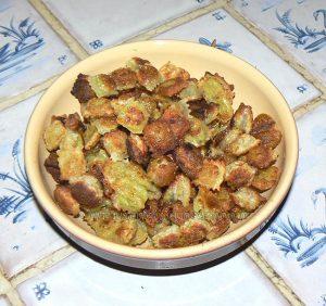 Cèpes à la crème et ravioles frits etape3