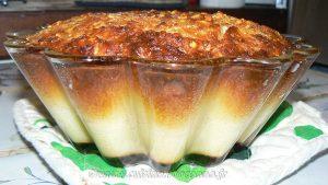 Flan aux pommes, amandes et Calvados fin