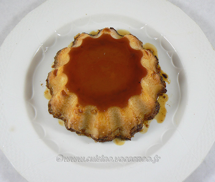 Flan aux pommes, amandes et Calvados fin2