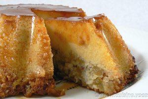 Flan aux pommes, amandes et Calvados