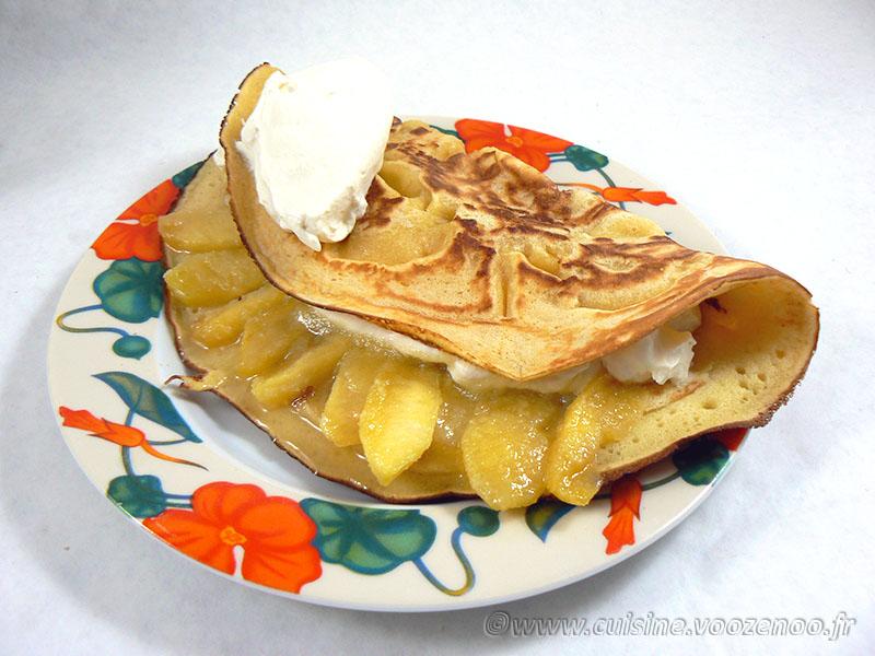 Farz Pitilig aux pommes caramélisées et chantilly fin2