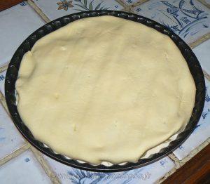 Tatin aux pommes de terre, lard et chèvre etape5