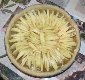 Tarte normande, pommes et amandes etape8