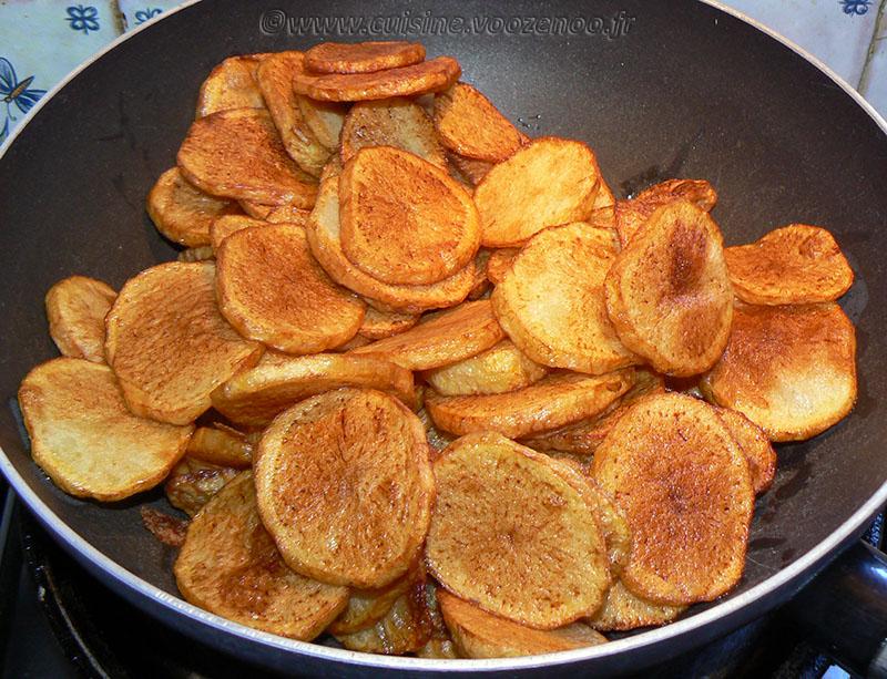 Pommes de terre sautées au saucisson à l'ail etape3