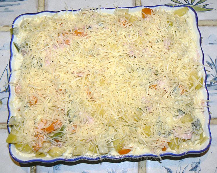 Gratin de pommes de terre, carottes, poireaux et Fourme d'Ambert etape5