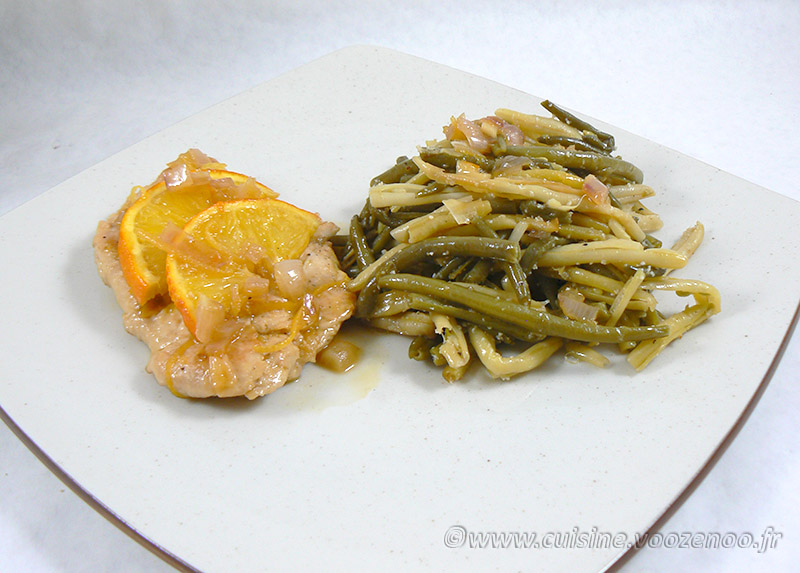 Escalopes de dinde au miel, citron et orange presentation