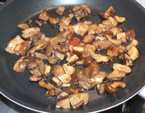 Linguines aux lentilles, champignons des bois et crème etape2
