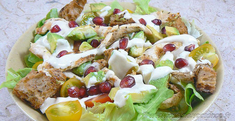 Blancs de poulet marinés en salade slider