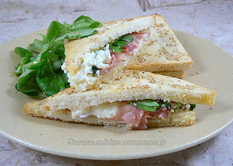 Club sandwich au Rocamadour presentation