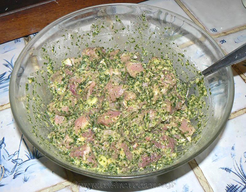 Brochettes de porc mariné etape2