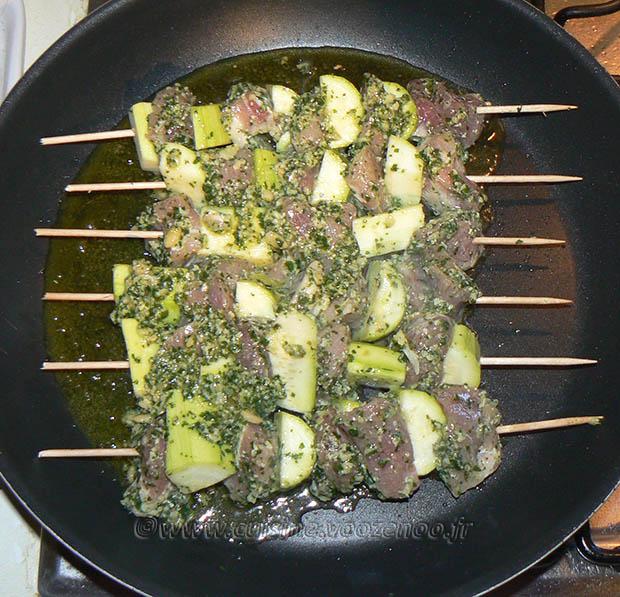 Brochettes de porc mariné etape5