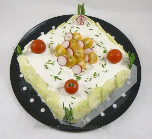 Sandwich cake au fromage blanc frais de Corrèze fin