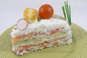 Sandwich cake au fromage blanc frais de Corrèze