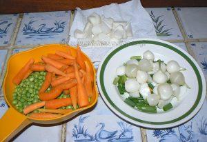 Tendrons de veau, jardinière de légumes primeurs etape1