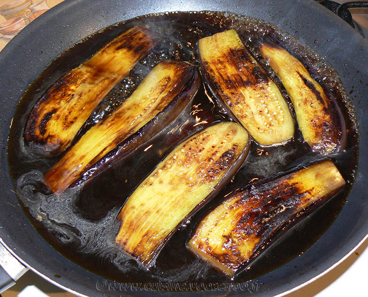 Aubergines confites à la sauce Teriyaki etape3