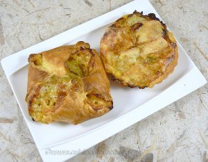 Paniers-Tartelettes feuilletés aux courgettes fin