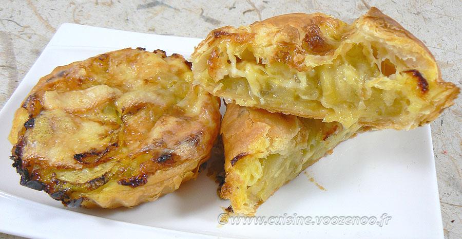 Paniers-Tartelettes feuilletés aux courgettes slider