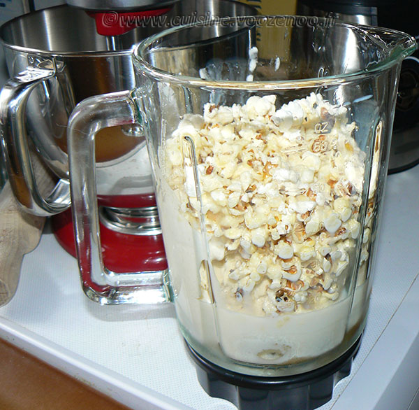 Milkshake vanille et pop-corn etape2