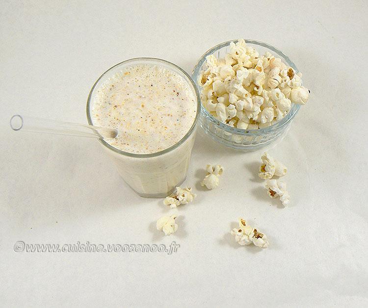 Milkshake vanille et pop-corn fin